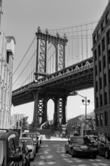 Manhattan Bridge sunset New York  USA
