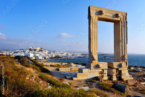 Plexiglas Athene Portara, Naxos island, Greece
