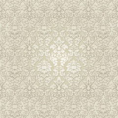 Damask vector seamless pattern