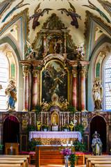 interior of church, Tosens, Tyrol, Austria