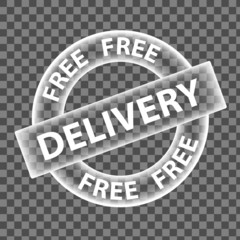 """FREE DELIVERY"" Marketing Stamp (png ghost service shipping)"