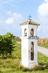 God's torture with vineyard, Southern Moravia, Czech Republic