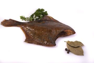 Smoked flounder