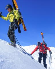Alpinisten im Aufstieg