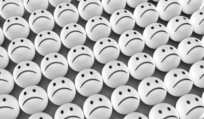 Traurige Gesichter