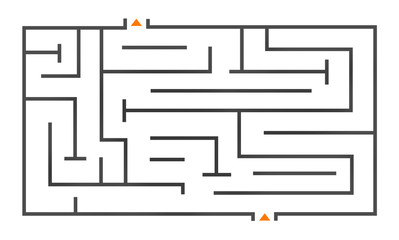 Maze Puzzle Strategy Direction Strategy Challenge Concept