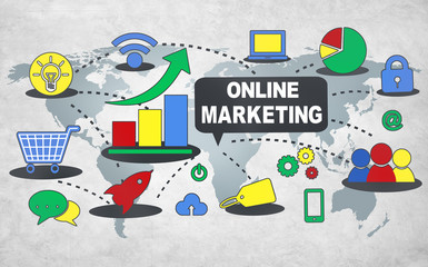 Online Marketing Commerce Global Business Strategy Concepgt