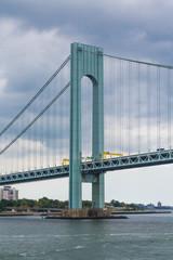 Green Tower on Suspension Bridge