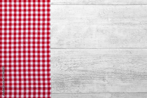Tuinposter Stof checkered fabric red