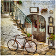 old streets of italy, artistic vintage picture - 77060701