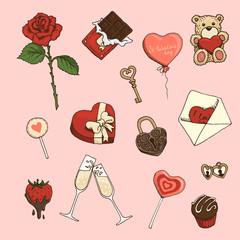St.Valentines set