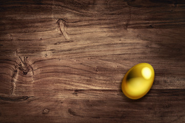 golden egg on desk