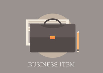 Modern and classic design business item concept flat icon