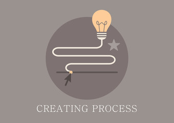 Modern and classic design idea creating process concept icon