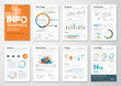 Big set of infographic elements in modern flat business style - 77061901