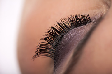 make up concept - false eyelashes