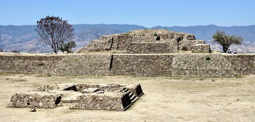 Monte Alban ruins, Mexico. Pyramide