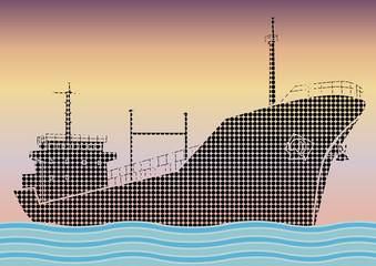 Navire pétrolier pop art