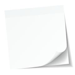 White Stick Note