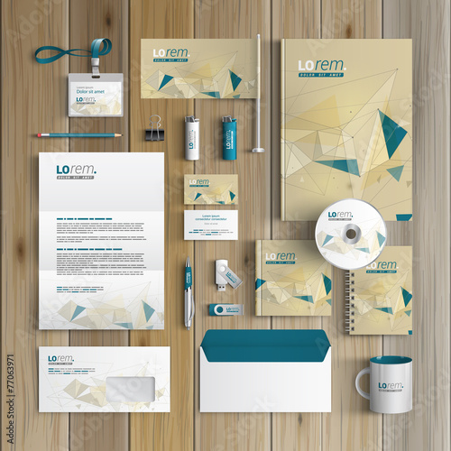 Fototapeta Stationery template design