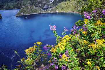 Montebello lakes of National Park in Chiapas