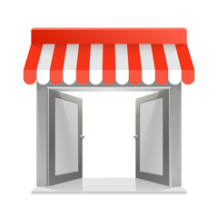 Store striped awning