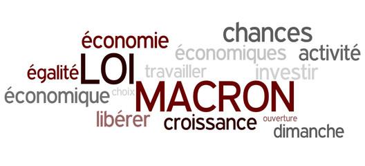 Nuage de mots : Loi Macron