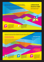 Brochure triangles colorful