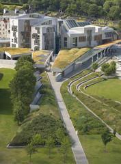Edinburgh city view with Parliament. Scotland. UK