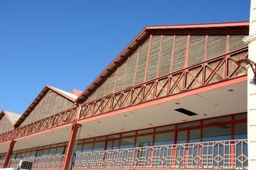 Harbour warehouses, Valencia, Spain
