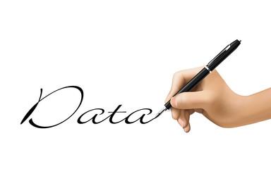 data word written by 3d hand