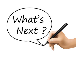 what is next words written by 3d hand