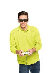 junger Mann Gamer Spieler 1
