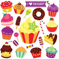 mix desserts clip art