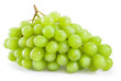 Green grape with drops isolated on white background