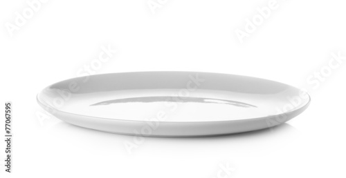 Empty plate isolated on a white background - 77067595