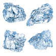Pieces of ice isolated on white background. With clipping path - 77067948
