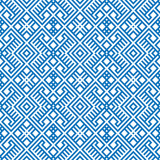 Geometric seamless ethnic pattern background in blue colors