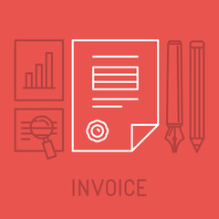 Vector invoice concept in outline style