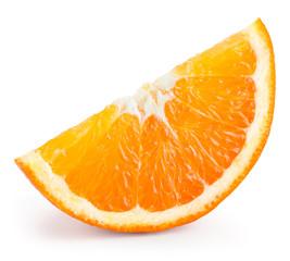 Orange fruit slice isolated on white