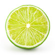 Lime half. Slice isolated on white background