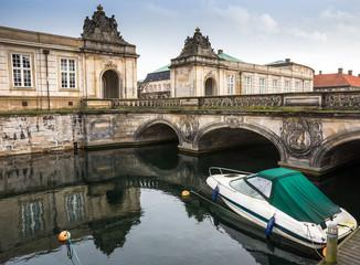 Bridge to Christiansborg Palace in Copenhagen, Denmark