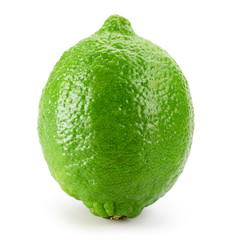 Lime fruit isolated on white background.