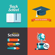 Vector school flat design flyers templates
