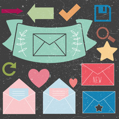 Mail icons set