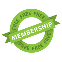 """Free Membership"" stamp (vector sign up now register)"