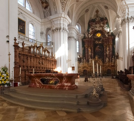Weingarten, interior of the church