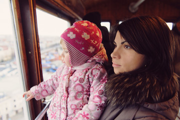 Mother and Daughter in FUnicular