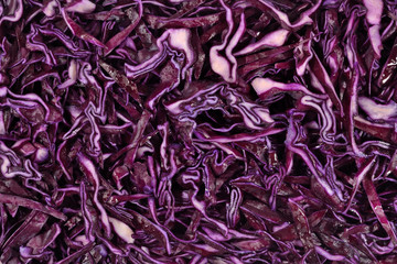 Sliced red cabbage background
