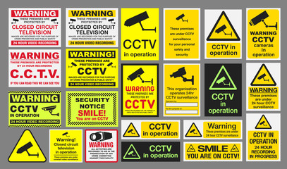 "CCTV ""Closed Circuit Television"" Signs"